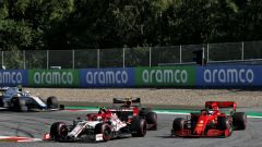 GP Austria 2020, Spielberg: Antonio Giovinazzi (Alfa Romeo) e Sebastian Vettel (Ferrari)