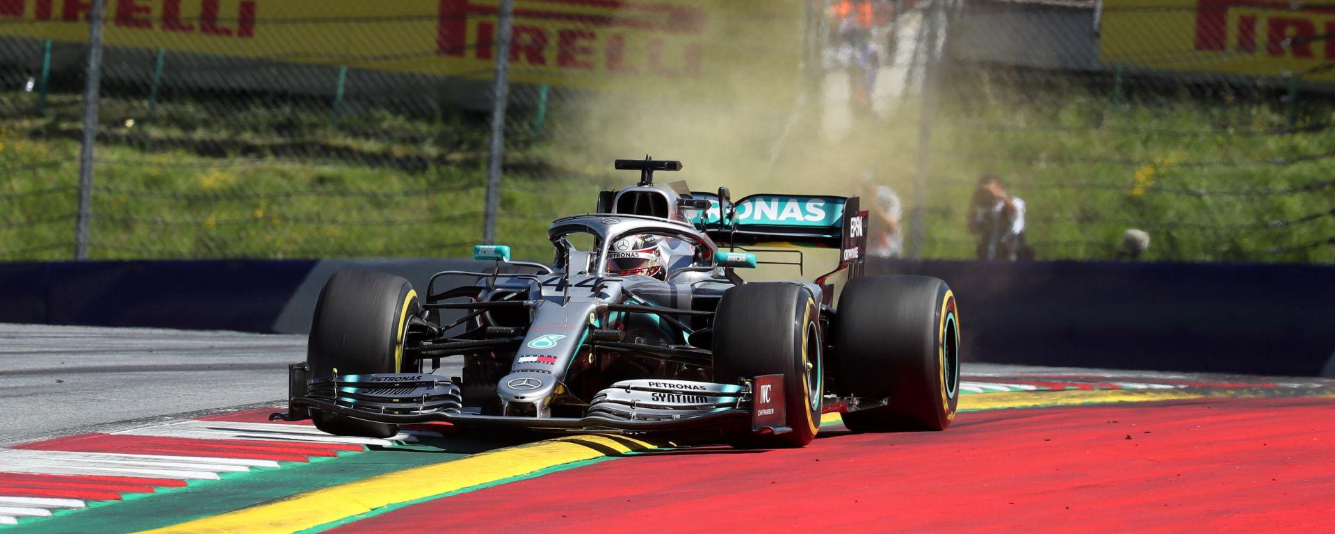 """GP Austria, Hamilton quinto: """"Non potevamo avvicinarci a nessuno"""""""
