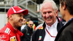 GP Azerbaijan 2018, Helmut Marko (Red Bull) con Sebastian Vettel (Ferrari)