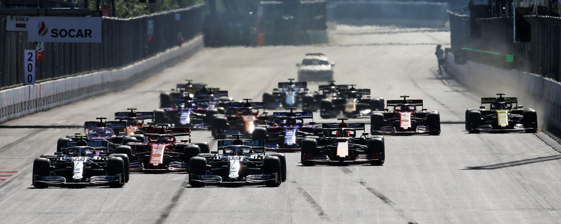 GP Azerbaijan 2019, Baku: la partenza