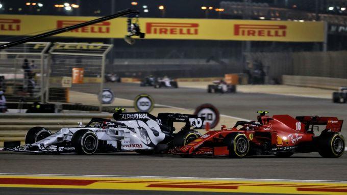 GP Bahrain 2020, Sakhir: Charles Leclerc (Ferrari) e Pierre Gasly (Alpha Tauri)