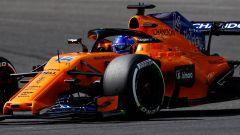 GP Belgio 2018, FP3, Fernando Alonso in azione con la sua McLaren