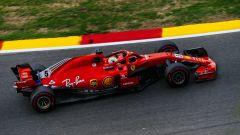 GP Belgio 2018, FP3, Sebastian Vettel in azione con la sua Ferrari