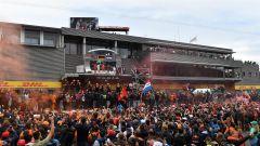 GP Belgio 2018, il podio di Spa Fracorchamps: Vettel precede Hamilton e Verstappen