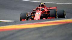 GP Belgio 2018, Kimi Raikkonen in azione con la sua Ferrari durante le FP2