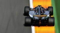 GP Belgio 2018, Lewis Hamilton in azione con la sua Mercedes durante le FP2