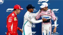 GP Belgio 2018, qualifiche, i tre protagonisti delle qualifiche: Vettel, Hamilton e Ocon