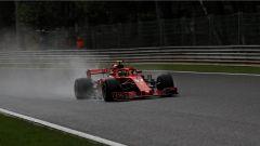 GP Belgio 2018, qualifiche, Kimi Raikkonen in azione con la sua Ferrari