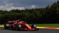 GP Belgio 2018, Sebastian Vettel in azione nelle FP1 con la sua Ferrari