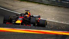 GP Belgio 2018, Spa-Francorchamps, Daniel Ricciardo in azione con la Red Bull