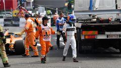 GP Belgio 2018, Spa Francorchamps: Fernando Alonso costretto al ritiro, tamponato al primo giro da Hulkenberg