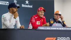 GP Belgio 2018, Spa Francorchamps: Hamilton, Vettel e Verstappen in conferenza stampa