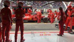 GP Belgio 2018, Spa Francorchamps: Kimi Raikkonen rientra ai box con la sua Ferrari, per lui è inevitabile il ritiro