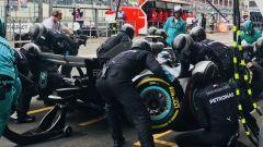 GP Belgio 2018, Spa-Francorchamps, Lewis Hamilton al pit stop nel box Mercedes