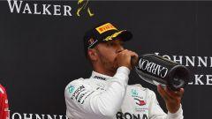 GP Belgio 2018, Spa Francorchamps: Lewis Hamilton sul podio non certo soddisfatto del secondo posto