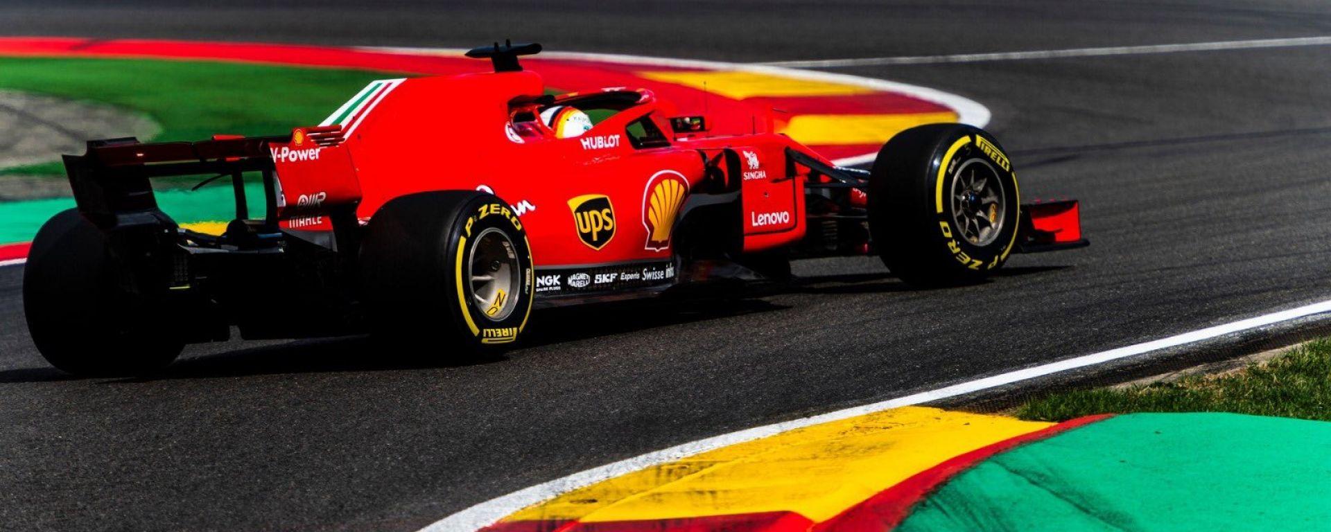 GP Belgio 2018, Spa-Francorchamps, Sebastian Vettel in azione con la sua Ferrari
