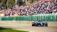 GP Belgio 2018, Spa-Francorchamps, Valtteri Bottas in rimonta con la sua Mercedes
