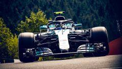 GP Belgio 2018, Valtteri Bottas in azione con la sua Mercedes durante le FP2