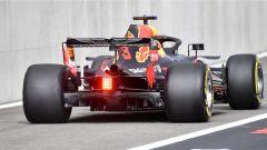 GP Belgio 2018, venerdì di libere, Daniel Ricciardo esce dalla pitlane con la sua Red Bull