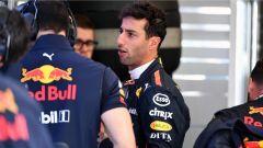 GP Belgio 2018, venerdì di libere, Daniel Ricciardo nel box Red Bull