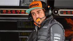 GP Belgio 2018, venerdì di libere, Fernando Alonso al muretto box della McLaren