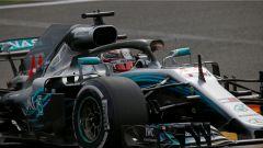 GP Belgio 2018, venerdì di libere, Lewis Hamilton in azione con la sua Mercedes