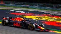 GP Belgio 2018, venerdì di libere, Max Verstappen in azione con la sua Red Bull
