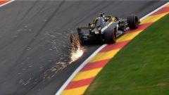 GP Belgio 2018, venerdì di libere, Nico Hulkenberg in azione con la sua Renault