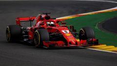 GP Belgio 2018, venerdì di libere, Sebastian Vettel in azione con la sua Ferrari