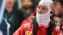 GP Belgio 2018, venerdì di libere, Sebastian Vettel nel box Ferrari