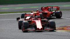 GP Belgio 2019, Spa Francorchamps, Charles Leclerc davanti a Sebastian Vettel (Ferrari)