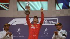 GP Belgio 2019, Spa Francorchamps, Charles Leclerc (Ferrari) festeggia la vittoria sul podio