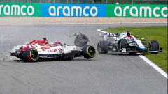 GP Belgio 2020, Spa: Antonio Giovinazzi (Alfa Romeo) incidente, coinvolto George Russell (Williams)