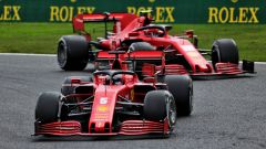GP Belgio 2020, Spa Francorchamps: Sebastian Vettel e Charles Leclerc (Ferrari)