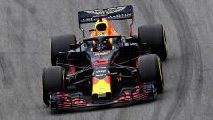 GP Brasile 2018, Daniel Ricciardo in azione con la sua Red Bull