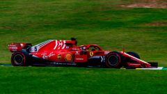 GP Brasile 2018, FP3: Sebastian Vettel in azione con la sua Ferrari
