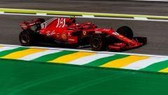 GP Brasile 2018, Kimi Raikkonen in azione con la sua Ferrari