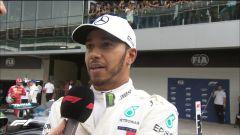 GP Brasile 2018, qualifiche. Il poleman Lewis Hamilton intervistato nel ring