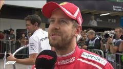 GP Brasile 2018, qualifiche. Sebastian Vettel intervistato nel ring