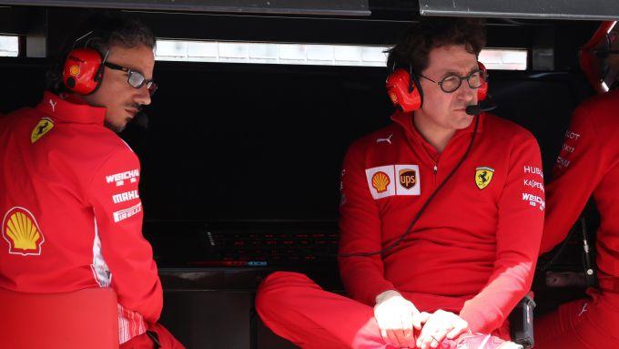 GP Canada 2019, Montreal: Laurent Mekies e Mattia Binotto al muretto Ferrari