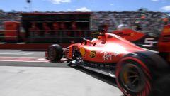 GP Canada, Sebastian Vettel esce dai box