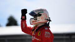 Gp Canada, Sebastian Vettel esulta dopo la pole position