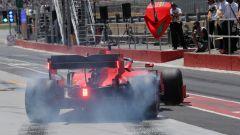 GP Canada, Vettel riparte sgommando dalla piazzola del pit
