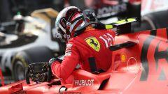 GP Cina 2019, Charles Leclerc scende deluso dalla sua Ferrari a fine gara