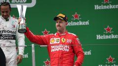 GP Cina 2019, Sebastian Vettel festeggia il terzo posto di Shanghai