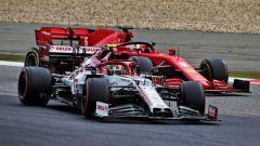 GP Eifel 2020, Nurburgring: Antonio Giovinazzi (Alfa Romeo) e Sebastian Vettel (Ferrari)