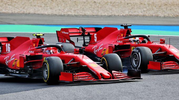 GP Eifel 2020, Nurburgring: Charles Leclerc e Sebastian Vettel (Ferrari)