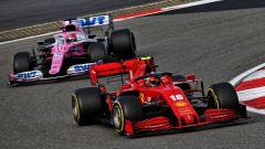 GP Eifel 2020, Nurburgring: Charles Leclerc (Ferrari) e Sergio Perez (Racing Point)