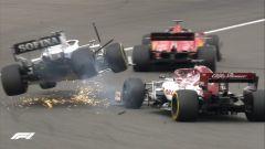 GP Eifel 2020, Nurburgring: Geoge Russell (Williams) e Kimi Raikkonen (Alfa Romeo)