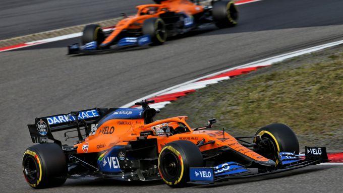GP Eifel 2020, Nurburgring: Lando Norris e Carlos Sainz (McLaren)